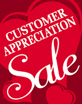 Customer Apreciations Sale